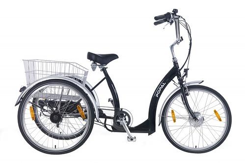 Popal E-bike driewielerfiets 24 inch Luxe Zwart
