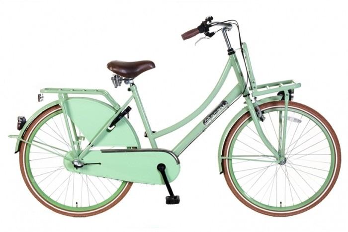 Meisjes Transportfiets Popal Daily Dutch 24/26 inch N3 Basic Plus Pistashe Groen