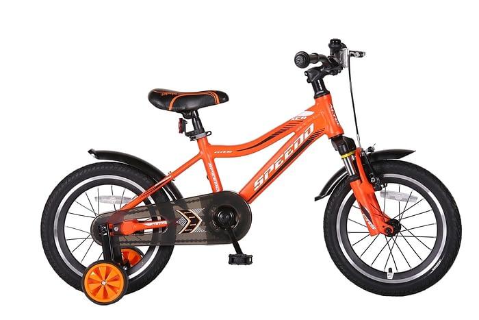 Speedo-16-inch-jongensfiets-Alu-frame-OranjeZwart