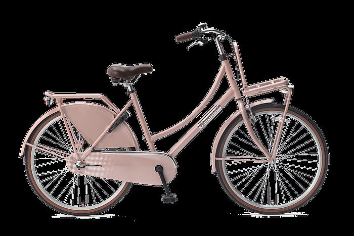 Popal daily dutch 26 inch N3 Meisjesfiets Transportfiets 26 inch met versnellingen zalm Roze