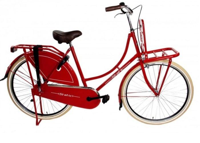 Static Omafiets 28 inch meisjes transportfiets 54cm rood