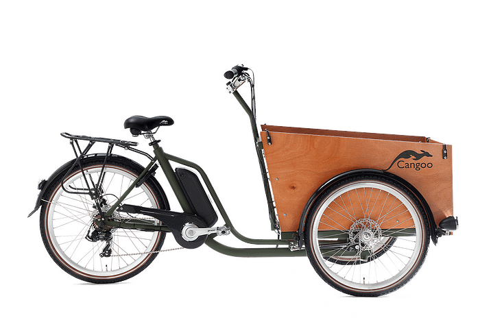 Elektrische Bakfiets Cangoo Easy 26 inch Army-naturel