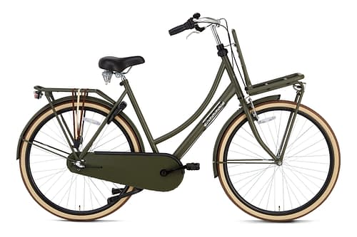 Popal Daily Dutch Basic plus 28 inch dames Transportfiets Army Green