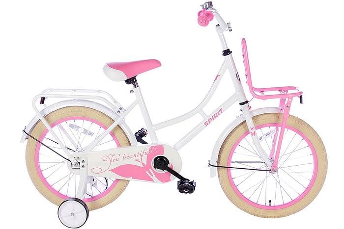 spirit-omafiets 18 inch wit roze