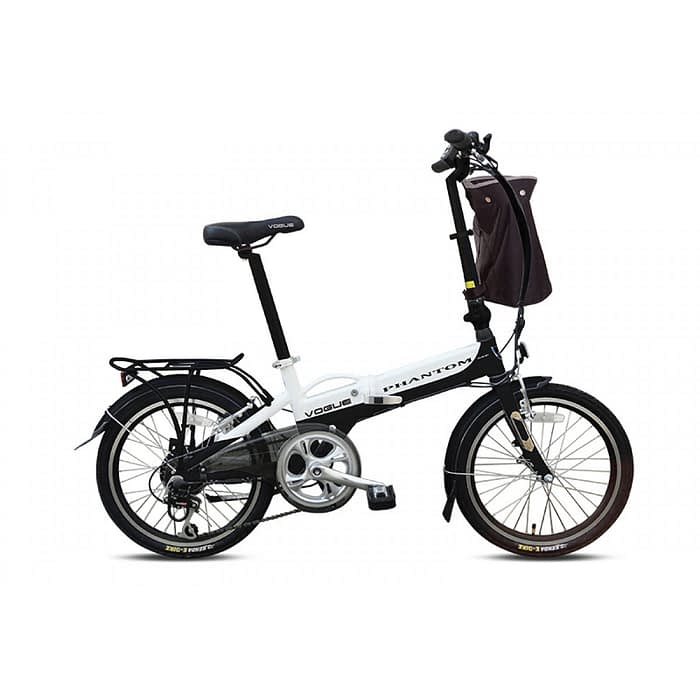 Vogue Phantom E-Bike vouwfiets 20 inch zwart-wit