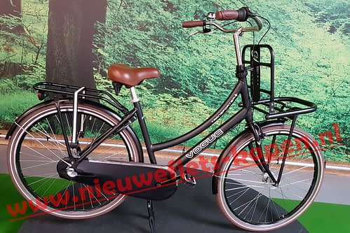 vogue transporter plus dames transportfiets mat zwart 2