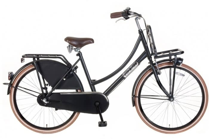 Meisjes Transportfiet popal Daily Dutch 24/26 inch N3 Basic Plus Mat-Zwart