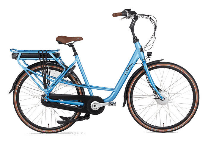 Popal Maeve Fm Elektrische moederfiets 28 inch lage frame fiets 47cm mamafiets Ebike blauw