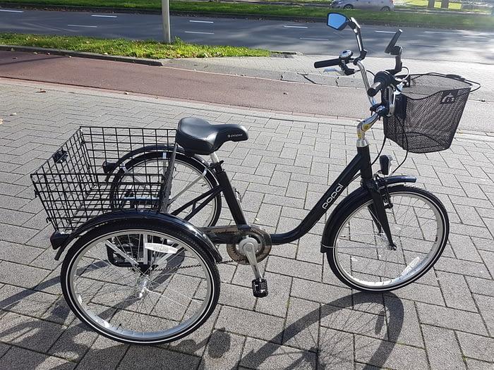 Popal driewieler fiets lage instap fiets voor volwassenen licht gewicht