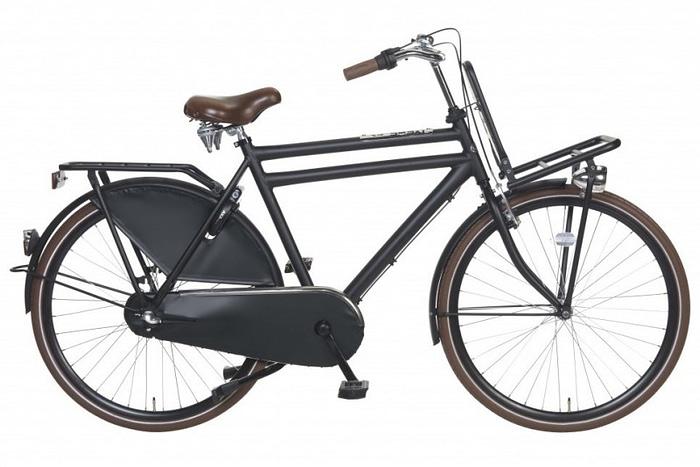 Popal Daily Dutch Royal Heren Transportfiets mat zwart 57 cm