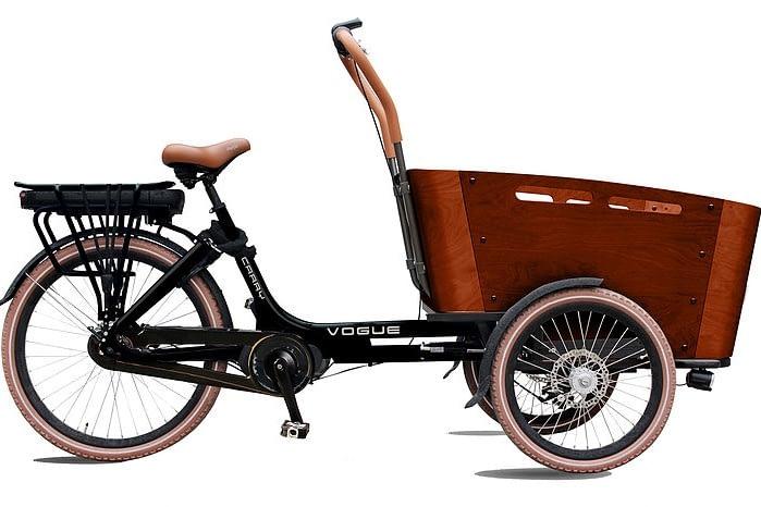 Vogue-Carry-3-Elektrische-Bakfiets-Matzwart-bruin