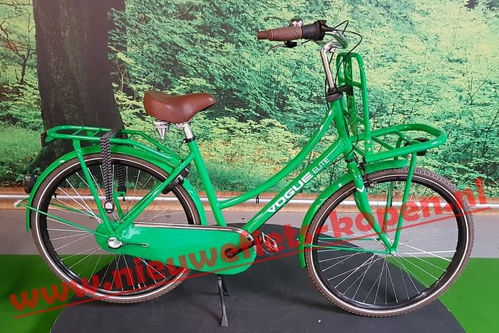 vogue elite dames transportfiets groen