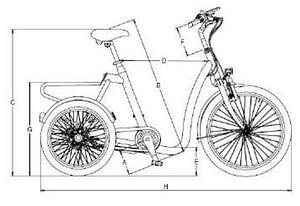 Huka driewieler fiets volwassenen senioren driewieler fietsTechnische