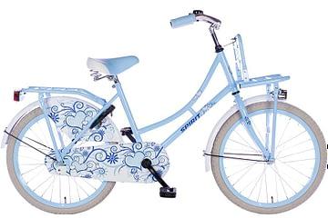 spirit-omafiets 22 inch blauw