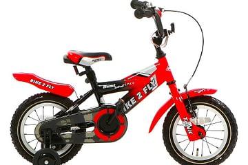 popal bike 2 fly jongensfiets 12 inch rood