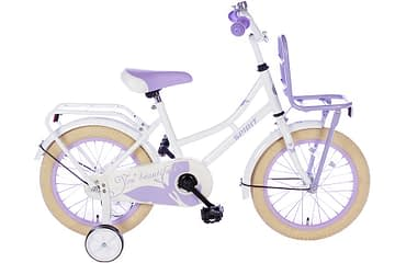 spirit-omafiets 16 inch wit paars