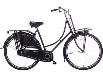 oma-fiets-28 inch Dames transportfiets basic-rek