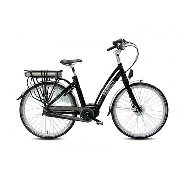 VOGUE Elektrische fiets CITY 28inch Ebikes Silver Black NX8 Lady 50 cm