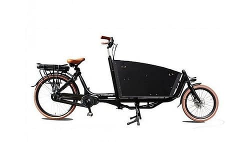 Vogue Bakfiets Carry 2 zwart bruin_