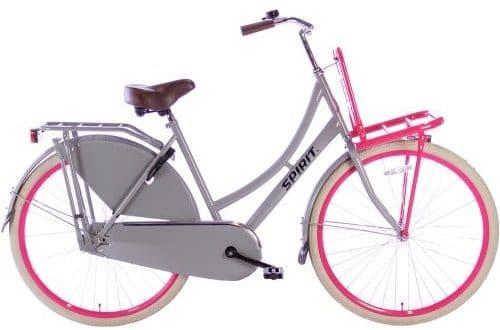 spirit-transporter Damesfiets 28 inch meisjesfiets-grijs-roze-2805-500x450