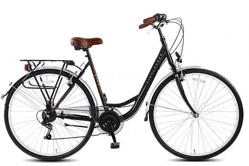 Highlander City Damesfiets 28 inch 6 speed mat zwart