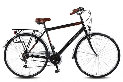 Highlander City herenfiets 28 inch 6 speed mat zwart