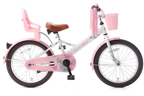 little miss 18 inch meisjesfiets wit