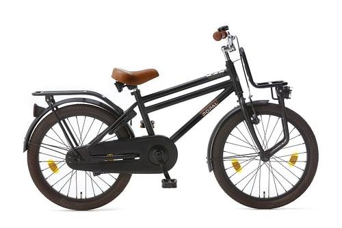 popal cooper 20 inch jongens fiets mat zwart