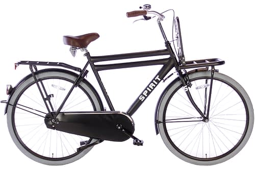 spirit-cargo-mat-zwart-28 inch herenfiets