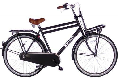 spirit-cargo-plus 28 inch Heren transportfiets -mat-zwart-2896-500x450
