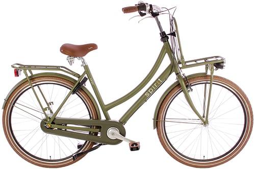 Spirit Cargo Plus dames Transportfiets N7 mat groen