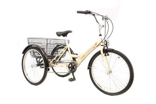 Umit-Driewieler-Senioren-24-inch-Creme-100-RIJKLAAR-GELEVERD-Nieuw-1