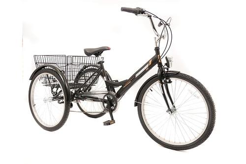 Umit-Driewieler-Senioren-24-inch-Zwart-100-RIJKLAAR-GELEVERD-Nieuw-1