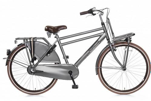 popal daily dutch basic+ jongens transportfiets 26 inch titanium grijs