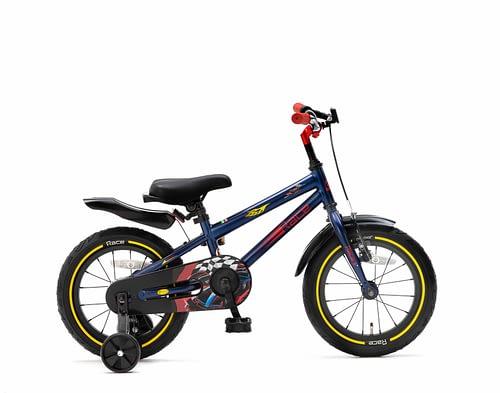 Popal Race Jongens fiets 14 inch Blauw