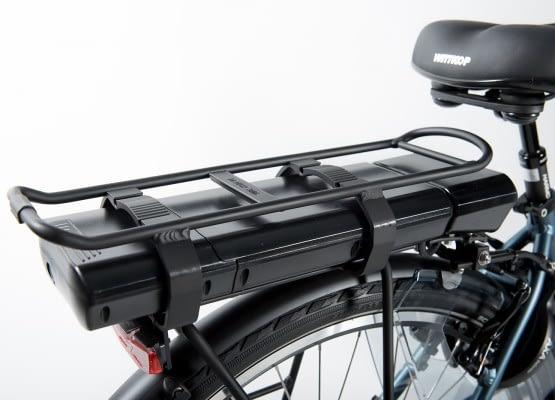 Aldo Lage Instap fiets Elektrisch inch Seven E-Bike 28 inch blauw Accu