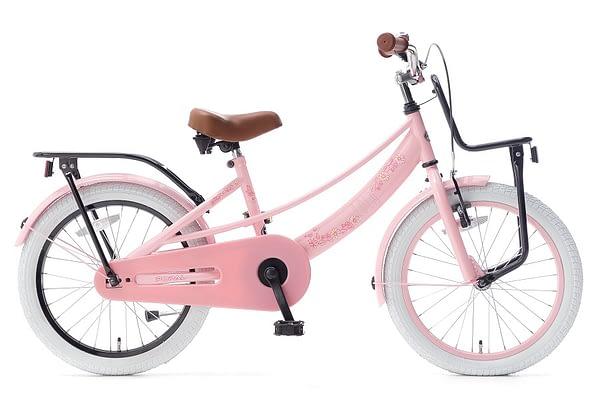 popal lola 20 inch meisjesfiets roze zwart
