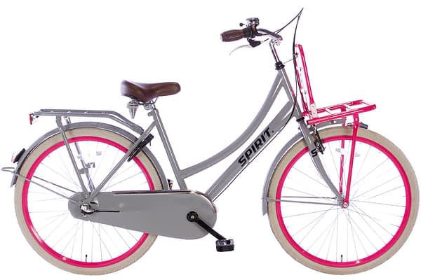 spirit-cargo-N3-grijs-roze-26 inch meisjesfiets