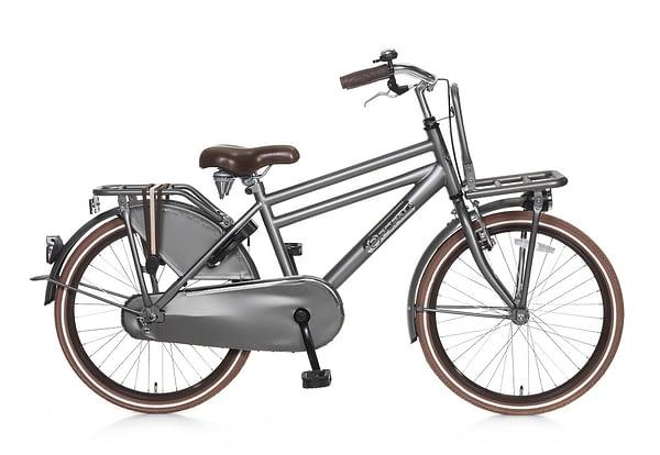 popal daily dutch basic jongens transportfiets 22 inch grijs
