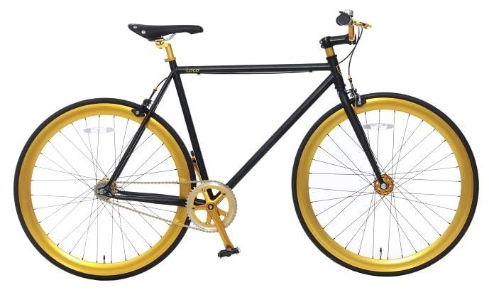 Vogue Loco Fixed Gear 28 inch mat-zwart goud