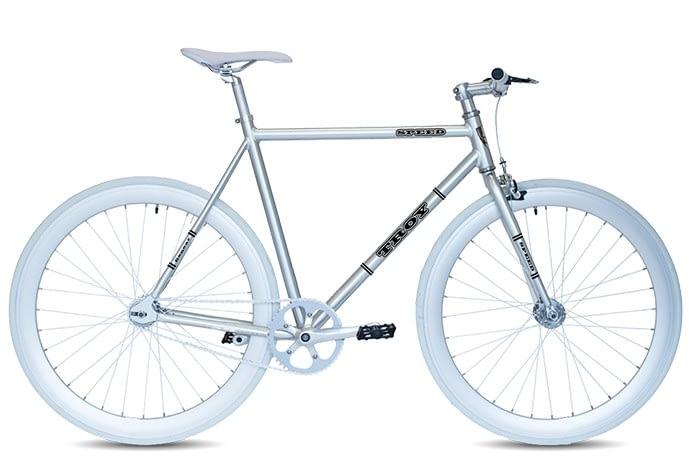 Troy speed fixedgear fiets chroom