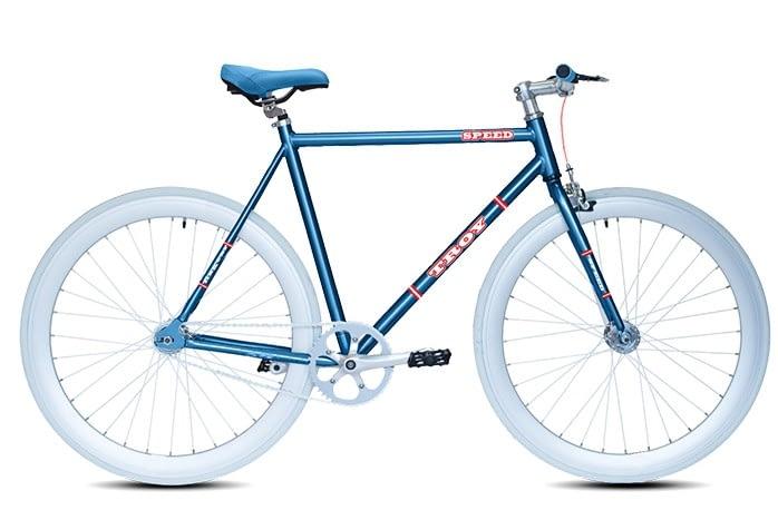 Troy speed fixedgear fiets blauw