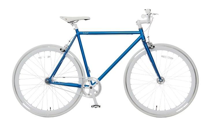 Vogue Loco Fixed Gear 28 inch Blue White