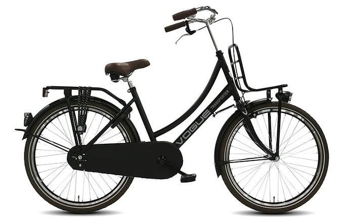 Transportfiets Vogue Transporter Meisjesfiets 24 inch mat zwart