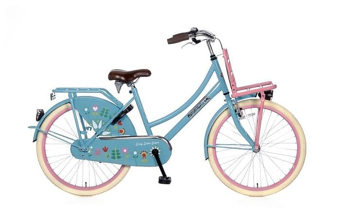 Popal Daily Dutch 24 inch meisjesfiets Bloomblauw transportfiets