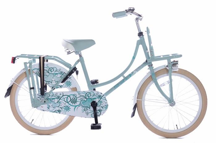 Static Omafiets 20 inch meisjes transportfiets groen