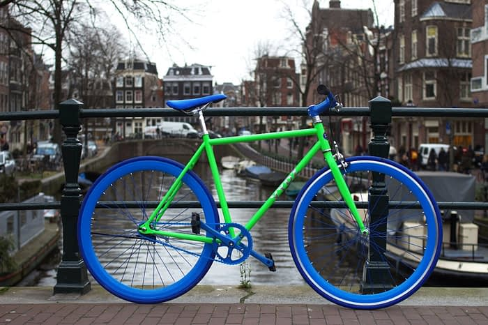 VYDZ 'STRIKING GREEN' SINGLE SPEED BIKE