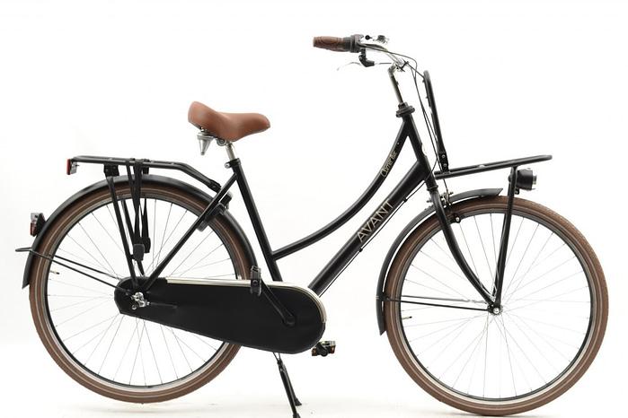 avant carrier Lux N3 dames transportfiets 28 inch mat zwart