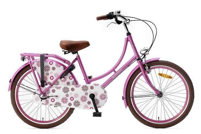 popal omafiets 22 inch roze met 3 versnellingen
