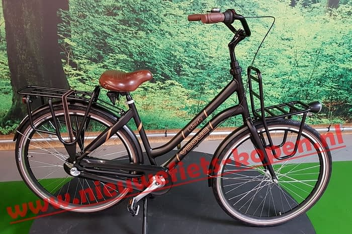 vogue liberty dames transportfiets mat zwart 5